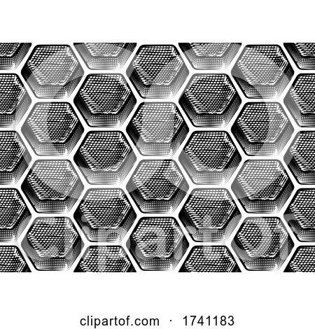 Honeycomb Seamless Background by AtStockIllustration