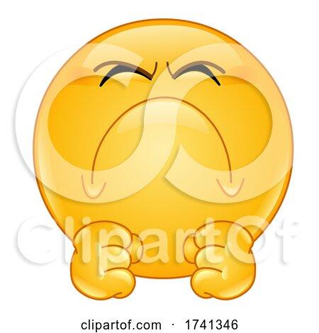 Irritated Yellow Smiley Face Emoji Emoticon by yayayoyo