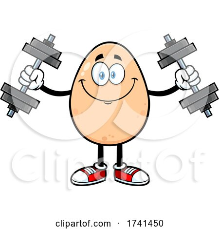 Egg Character Working out by Hit Toon