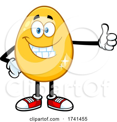 Golden Egg Giving a Thumb up by Hit Toon