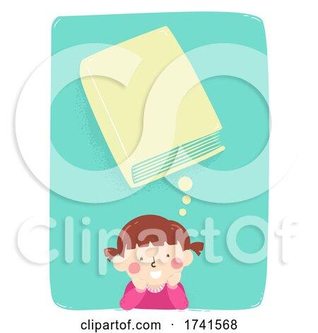 Kid Girl Think Book Cover Illustration by BNP Design Studio