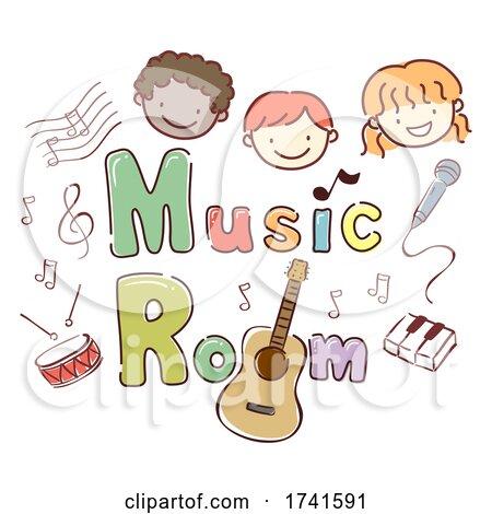 Stickman Kids School Music Room Illustration by BNP Design Studio