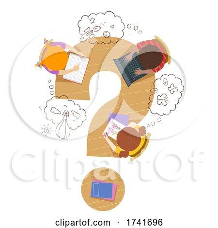 Kids Imagination Thinking Clouds Illustration by BNP Design Studio