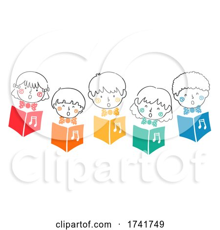 Doodle Kids Sing Choral Song Books Illustration by BNP Design Studio