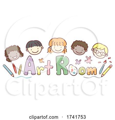 Stickman Kids Art Room Supplies Illustration by BNP Design Studio