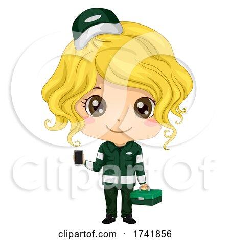 Kid Girl Paramedic Uniform Illustration by BNP Design Studio