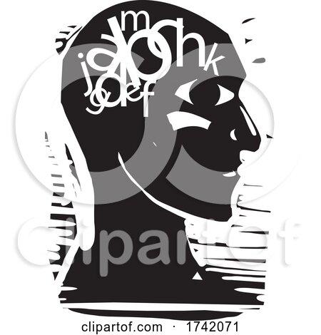 Profiled Head with Dyslexia by xunantunich