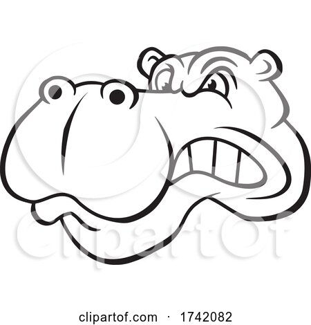 Angry Hippo Mascot by Johnny Sajem