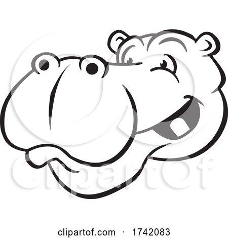 Happy Hippo Mascot by Johnny Sajem