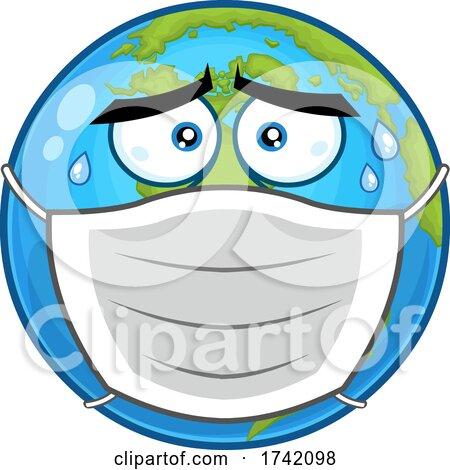 Masked Earth Globe Mascot Character Posters, Art Prints