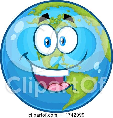 Happy Earth Globe Mascot Character Posters, Art Prints