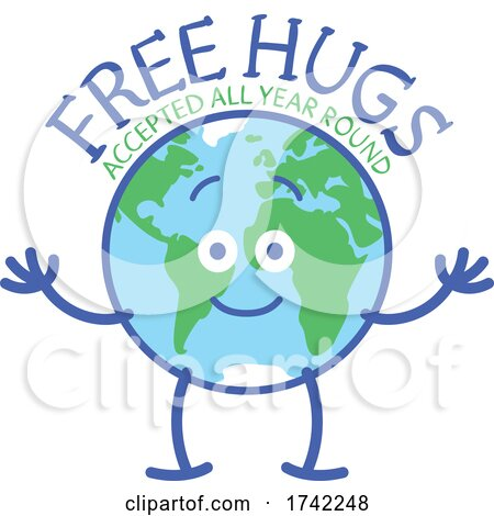 Earth Mascot Offering Free Hugs All Year Round Posters, Art Prints