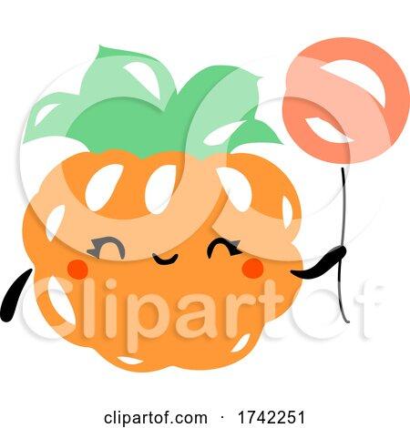 Cute Cloudberry Holding a Balloon by elena