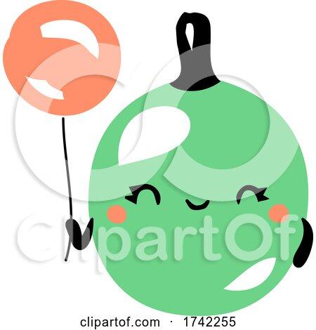 Cute Gooseberry Holding a Balloon by elena