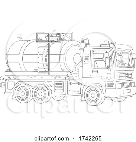 Driver and Tanker Truck by Alex Bannykh