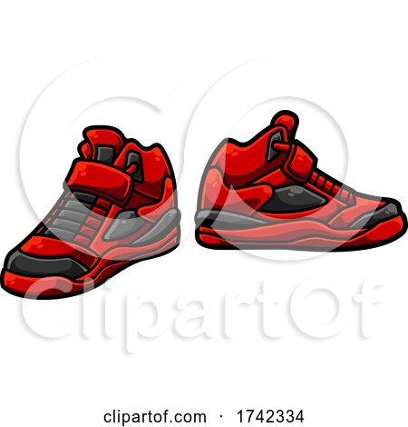 Red Sneakers by Hit Toon