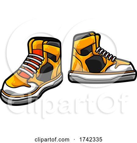 Yellow Sneakers by Hit Toon