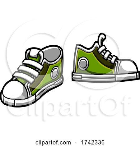 Green Sneakers by Hit Toon