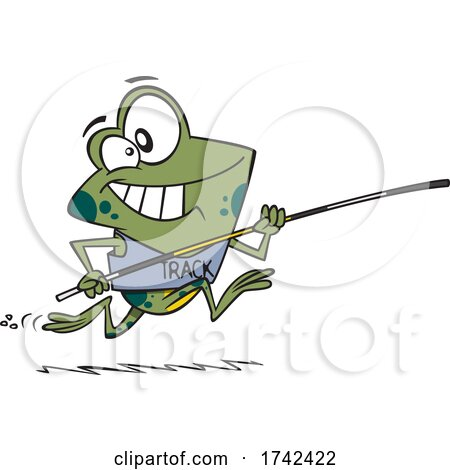 Cartoon Frog Jumper by toonaday