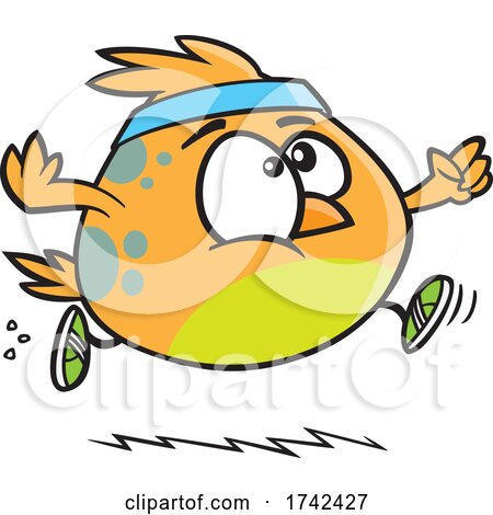 Cartoon Bird Jogging by toonaday