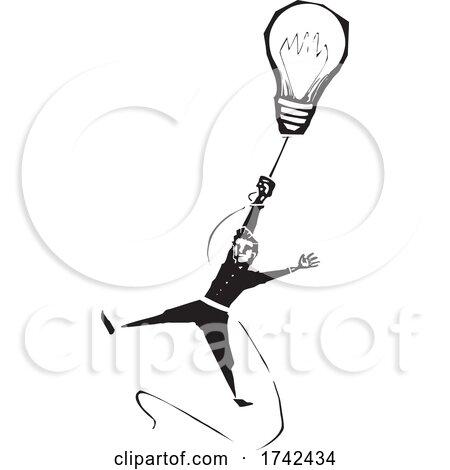 Man Hanging from a Lightbulb by xunantunich