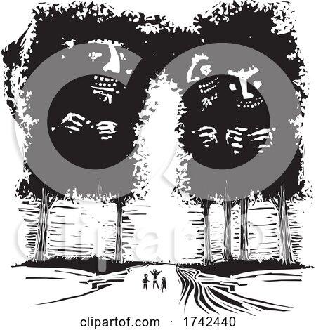 Wooden Tree Trolls by xunantunich