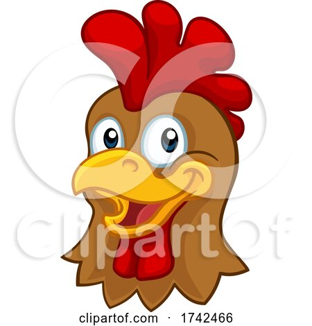 Chicken Cartoon Rooster Cockerel Character by AtStockIllustration