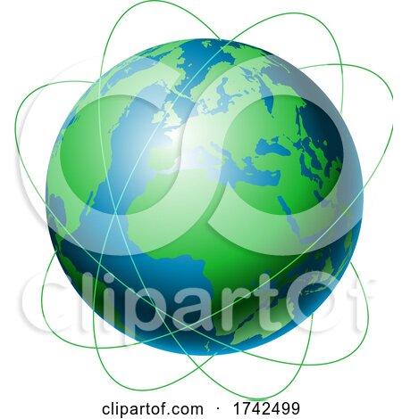 Network Communications Globe Design Posters, Art Prints