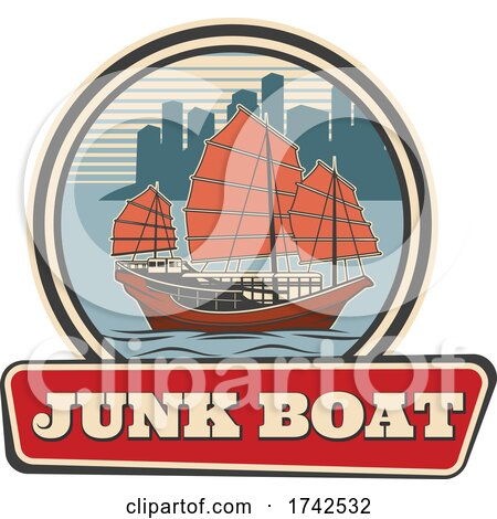 Junk Boat by Vector Tradition SM