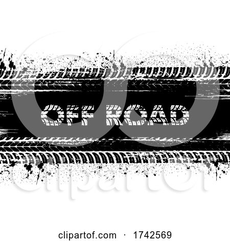 Tread Marks off Road Text by Vector Tradition SM