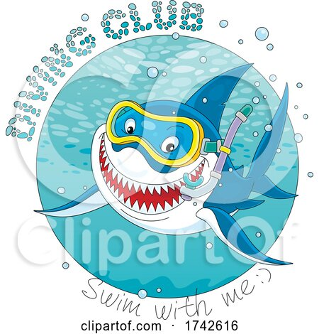 Diving Club Shark by Alex Bannykh