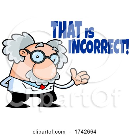 Science Professor Albert Einstein Character - That Is Incorrect by Hit Toon