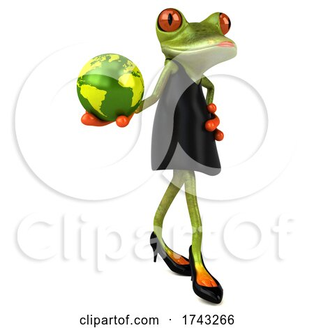 3d Female Frog, on a White Background Posters, Art Prints