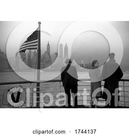 People Viewing Manhattan from a Ship by JVPD