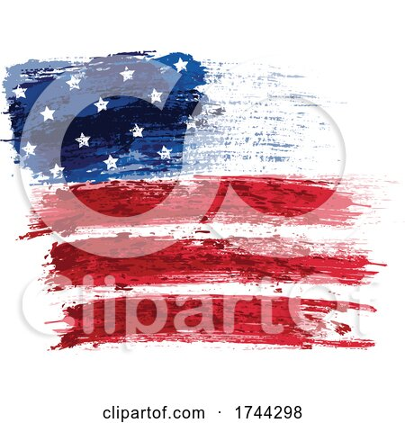Painted American Flag Stars and Stripes by dero
