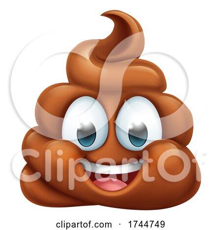 Happy Poop Poo Emoticon Poomoji Emoji Icon by AtStockIllustration