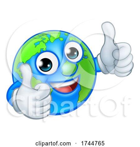 Earth Globe World Mascot Cartoon Character Posters, Art Prints