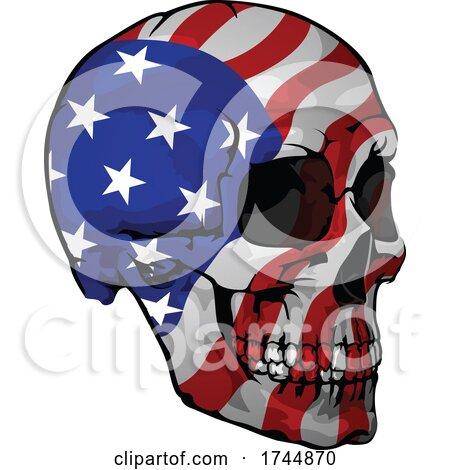 American Flag Skull by dero