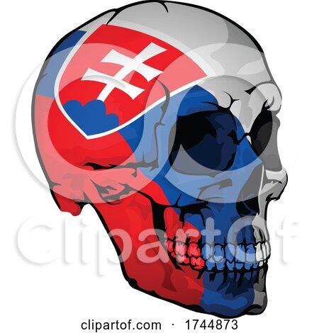 Slovakian Flag Skull by dero