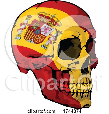 Spanish Flag Skull by dero
