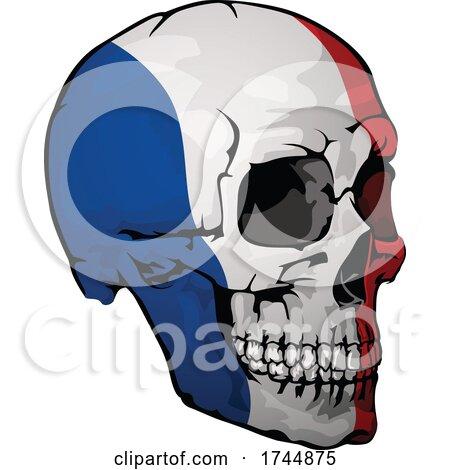 French Flag Skull by dero