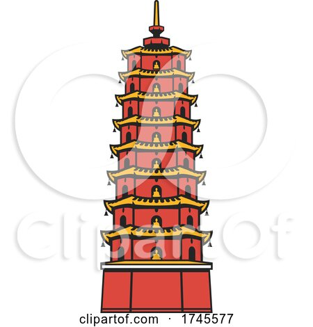 Pagoda by Vector Tradition SM