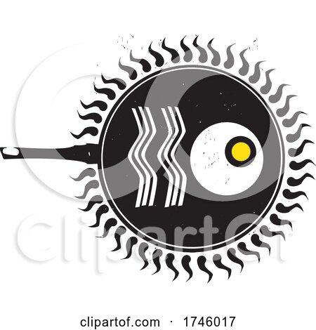 Woodcut Frying Eggs by xunantunich