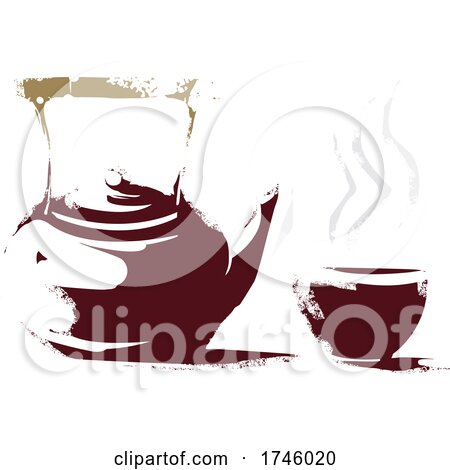 Teapot and Cup by xunantunich