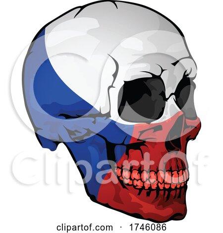 Czech Flag Skull by dero