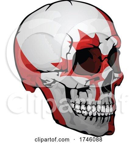 Canadian Flag Skull by dero