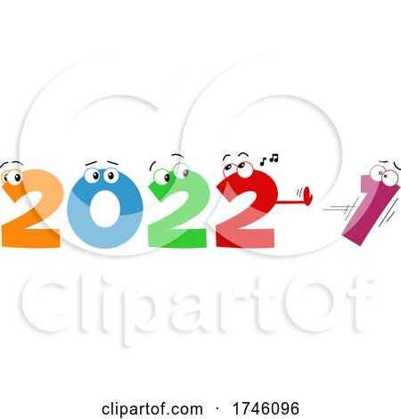 New Year 2022 Numbers Pushing out the 1 by Hit Toon