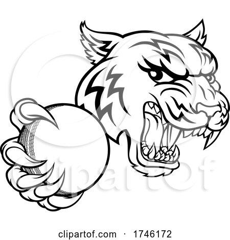 Tiger Cricket Player Animal Sports Mascot by AtStockIllustration