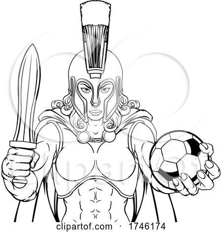 Spartan Trojan Gladiator Soccer Warrior Woman by AtStockIllustration