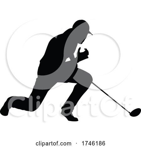 Golfer Golf Sports Person Silhouette by AtStockIllustration